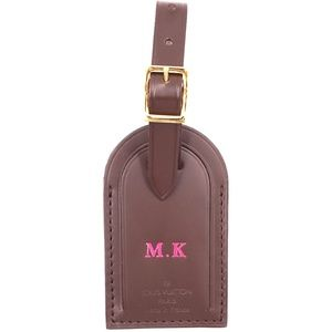 Speedy Alma Smooth Calf Leather Luggage Tag